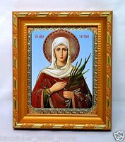 Ikone heilige Tatiana geweiht икона Святая Татиана освящена 14,5x12,5x1,7 cm