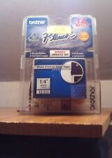 "NEW P-TOUCH BROTHER TZ-111 TAPE BLACK PRINT ON CLEAR 1/4""(6mm)LAMINATED TAPE"
