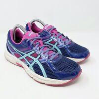 ASICS Gel-Contend 3 Womens Size 8 Running Shoes Blue Pink Purple
