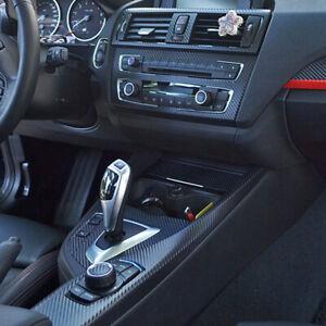 Interior Center Console Carbon Fiber Molding Sticker Decal For BMW 1 Series 118i