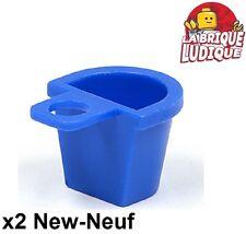 Lego - 2x Minifig sac dos panier Container Basket bleu/blue 4523 NEUF