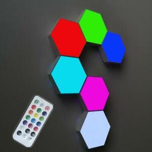 LED Touch Sensitive Hexagonal Modular Lighting Quantum Lamp DIY Magnetic Light