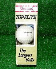 Vintage Top Flight Spalding Golf Balls Pack Of 3 New - Made In Usa