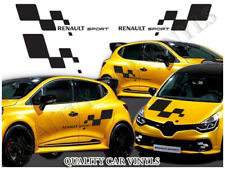 Renault sport flag large bonnet side vinyl graphics decals Renault clio mk4 P117