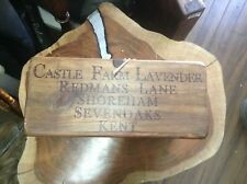 Handmade Castle Farm Lavender Wooden Trug Carrying Crate Storage Box (n)