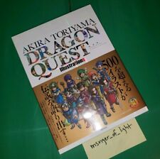 Dragon Quest Akira Toriyama Illustrations Art Book + Case from Japan 239 PAGES
