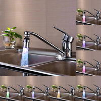 7 Color Change Kitchen Sink Water Glow Water Stream Shower LED Faucet Taps Light