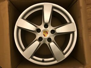 "PORSCHE BOXSTER CAYMAN 981 19"" REAR ALLOY WHEEL 981.362.143.03 9.5Jx19 ET45"