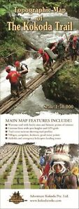 Adventure Kokoda Map - Topographical (folded)