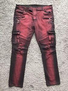 BALMAIN Paris Biker Denim Jeans Men's Size 42 X 32 Made in Italy 100% cotton
