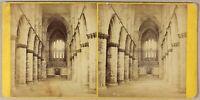 Glasgow Cattedrale Scozia UK Foto Wilson Stereo PL55L2n Vintage Albumina c1865