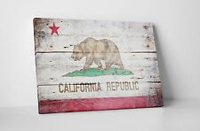 "Republic of California Vintage Flag Gallery Wrapped Canvas 16""x20"""
