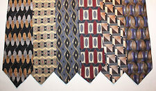NEW Lot of 6 Designer Neck Ties with Geometrics, Albert Nipon and more L009