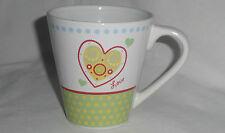 LOVE HEART MUG design - NEW - 12oz 355mL water coffee/tea cup gift home/office D