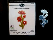 Sizzix Embosslits BOTANICAL BRANCH FLOWERS Sizzlits fits Cuttlebug 657096