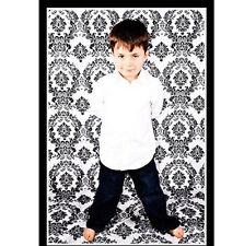 5x9 ft Black White Photography Backdrop Flocked Damask Background 100% Seamless