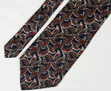 Cristian Dior Monsieur Tie black MultiColor and Paisley 59.5in 4.5in 100% silk