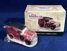 New BEDFORD FALLS AMBULANCE Figurine CAR It's a Wonderful Life VILLAGE - ENESCO