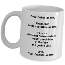 Dear Father In Law Coffee Mug Wedding Bday Father Day Gift Funny Ceramic Cup New