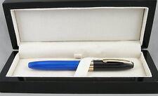 Sheaffer Legacy Fantasy Royal Blue & Black Cap Fountain Pen -18kt Gold Nib