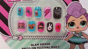 L.O.L Surprise Glam Seeker Press On Nails Girls False Nails Party Bag Filler