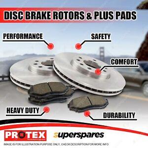 Protex Rear Brake Rotors + Plus Pads for Chevrolet Camaro V8 2010-on