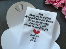 To Father Of Bride Embroidery Wedding Handkerchiefs Gifts/1291