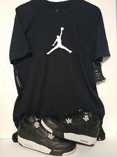 Nike Jordan Retro 4 Oreo SZ 7Y women 8.5 & MJ T Shirt SZ Small ( Cp3 Westbrook )
