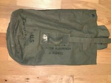 New listing Wwii Us Army Gi Canvas Od Green Laundry Duffle bag 1945 Breslee Named Id'd