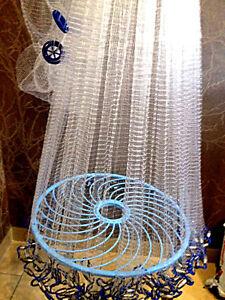 Nr.37,Angelnetz,Cast Net, Neustes Wurfnetz  mit 4,88m,Fischnetz,