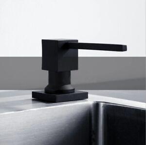 Stainless Steel Black Gold Silver Liquid Soap Dispenser Kitchen Pump Sink Bottle