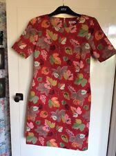 Size 6 Cath Kidston Dress Kath Kidson Vintage Style Leaves Print Spring Sale
