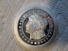 MORGAN DOLLAR DESIGN {1} TROY OZ SOLID .999 FINE SILVER>{GORGEOUS}