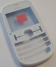 Original Nokia Asha 200 Cover Weiss Single Sim  Front Oberschale Housing NEU WOW