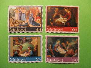 MALAWI SG305/8 1968 CHRISTMAS PAINTINGS MNH