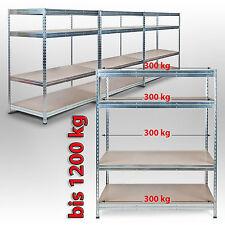 200x150x60cm 300kg je Boden Weitspannregal Schwerlastregal Lagerregal Verzinkt