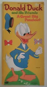 Vintage Donald Duck Mickey Goofy Big Punch Out Book 1961 Disney Paper Dolls