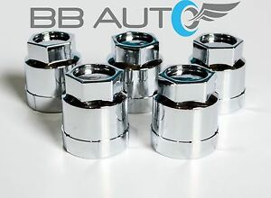 5 NEW CHROME LUG NUT COVERS CAPS CAMARO S10 BLAZER CAVALIER JIMMY SONOMA REGAL