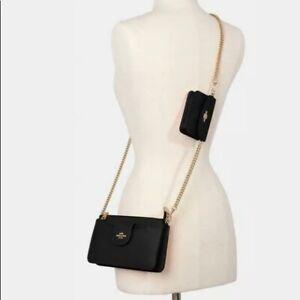 Coach Poppy Crossbody Handbag Clutch Black Bag Purse