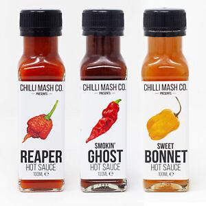 Hot Sauce Trio | 3x 100ml | Chilli Mash Company | Mild To Wild