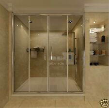 1700x800mm Sliding Shower Enclosure Glass Screen And Stone Tray Double Door