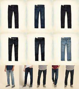 NWT HOLLISTER by ABERCROMBIE MEN  CLASSIC Straight JEANS ALL SIZE
