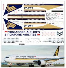 1/144 PAS-DECALS. ZVEZDA. BOEING 777-300 SINGAPORE AIRLINES