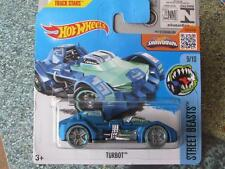 Hot Wheels 2016 #209/250 TURBOT bleu Rue Beasts étui M NEUF FONTE 2016