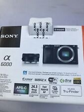 Empty Box for Sony A 6000 Digital Camera & Manual Book