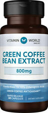 Vitamin World Green Coffee Bean Extract 800mg - Natural Weight Loss Supplement