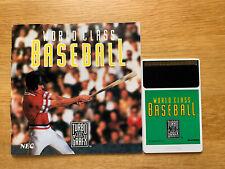 New listing NEC World Class Baseball TurboGrafx 16 PC Engine Duo Express Turbo Grafx Manual