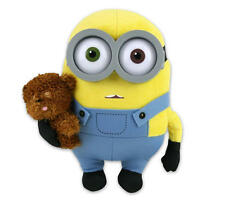 "MINIONS MOVIE MINION BOB WITH TEDDY BEAR 10"" PLUSH GREAT GIFT NEW WITH TAGS"