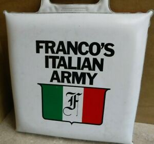 PITTSBURGH STEELERS RARE FRANCO HARRIS FRANCO'S ITALIAN ARMY SEAT CUSHION