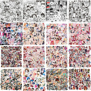 HOT Sexy Anime Hentai Waifu Girl Stickers Bomb Beautiful Girl Ahegao Dope Decals